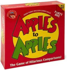 Apples to applesauce.