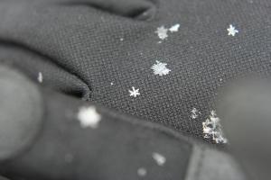 Photo c/o Robin Dallum. Macro snow!