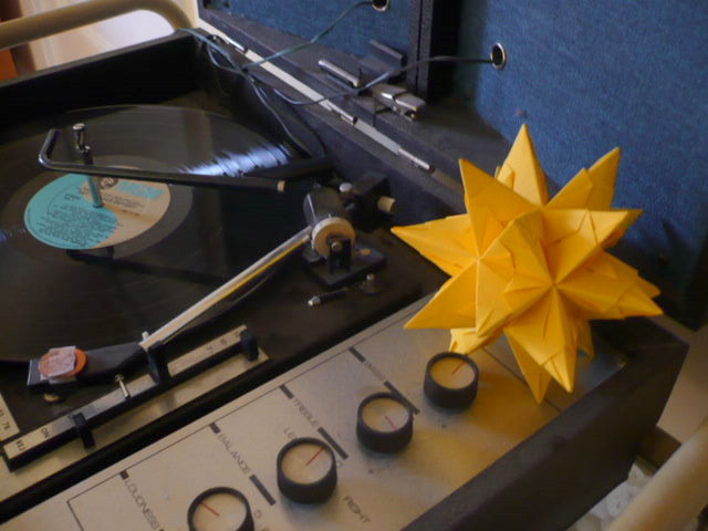 Origami c/o Barry, record player c/o Sean Nelson.