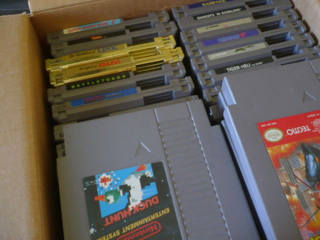 Old skool NES games. Tetris FTW!